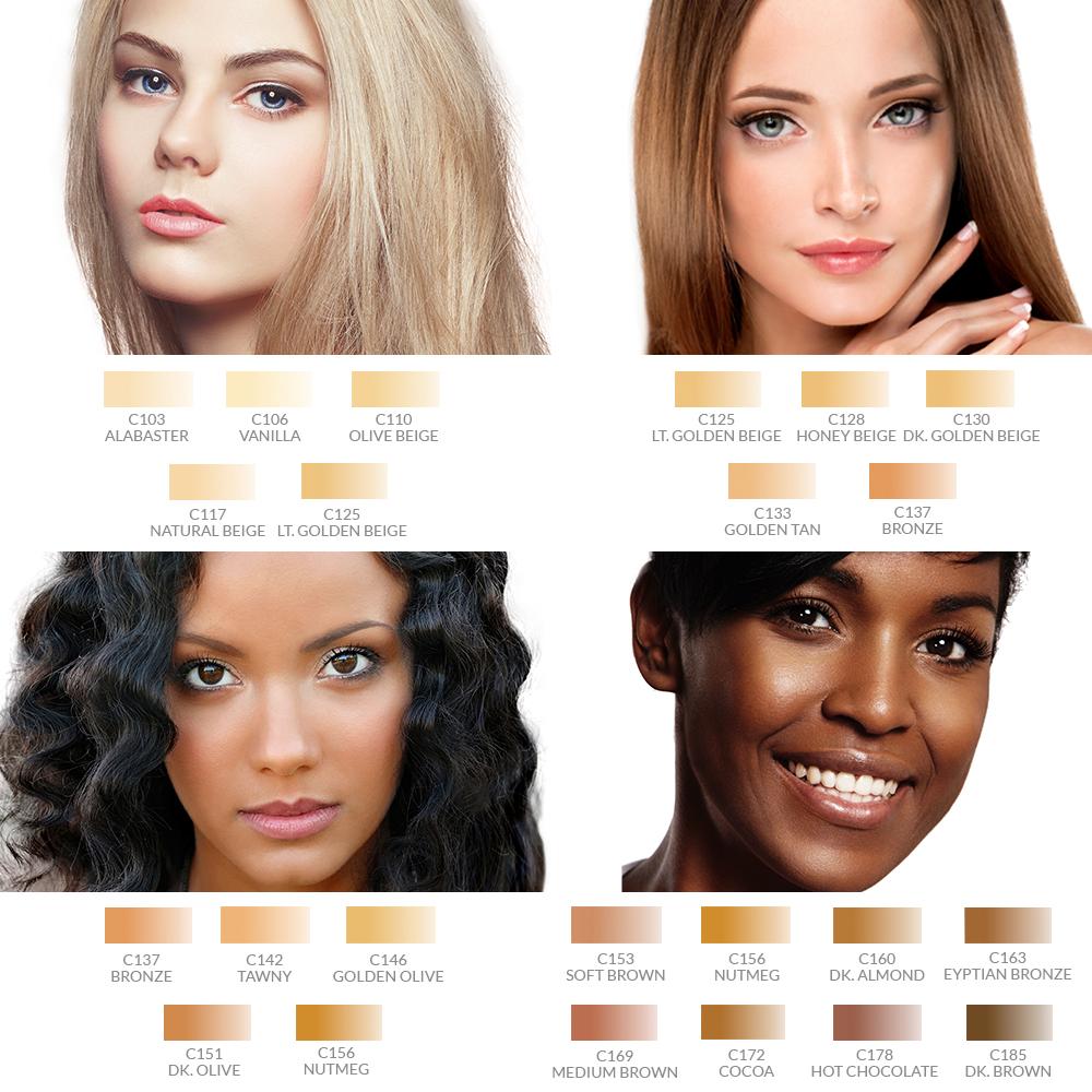 Dinair Airbrush Makeup Foundation Kit 4pk Glamour Set